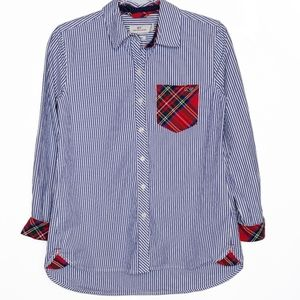 Vineyard Vines relaxed striped plaid button down
